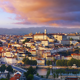 Portugal, Coimbra, Overview at Dusk(Mr) Photographic Print by Shaun Egan