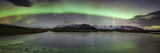 Iceland, South Iceland , Aurora Borealis in Jokulsarlon Lagoon Photographic Print by Alessandro Carboni