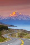 Mount Cook (Aoraki) Illuminated Photographic Print by Doug Pearson