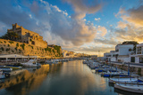 Sunset View over the Old Port, Ciutadella, Minorca or Menorca, Balearic Islands, Spain Photographic Print by Stefano Politi Markovina