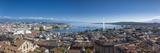 Jet D'Eau on Lake Geneva and City Skyline, Geneva, Switzerland Fotografisk trykk av Jon Arnold