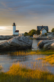 USA, Massachusetts, Gloucester, Annisquam, Annisquam Lighhouse Reproduction photographique par Walter Bibikow