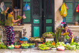 Street Vegetable Seller, Hanoi, Vietnam Lámina fotográfica por Peter Adams