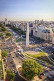 Argentina, Buenos Aires, Avenida 9 De Julio and Obelisk Reproduction photographique par Michele Falzone
