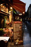 A Food Menu Outside a Restaurant in Paris, France Reproduction photographique par Chris Bickford