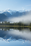 Lake Matheson in Westland National Park Photographic Print by Michael Melford