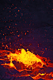 A Lava Bubble Bursts in an Active Lava Lake on Kilauea Volcano Fotografisk tryk af Steve And Donna O'Meara