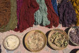 Plants and Other Natural Materials Used for Traditional Dyes with Yarn They Have Colored Reproduction photographique par Beth Wald