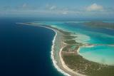 An Aerial of the Bora Bora Shoreline and Lagoon Fotografisk tryk af Karen Kasmauski