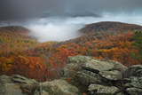 Fall Colors from Bearfence Mountain's Rocky Peak Reproduction photographique par Greg Dale