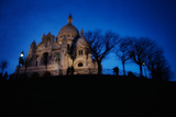 The Basilica of the Sacred Heart of Paris at Night Reproduction photographique par Chris Bickford