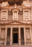 A View of the Treasury, Al Khazneh, in Petra Photographic Print by Michael Melford