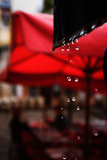 Rain Droplets Outside a Cafe in Paris, France Reproduction photographique par Chris Bickford