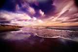A Dramatic Sky over the Outer Banks of North Carolina Reproduction photographique par Chris Bickford