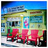 An Ice Cream Stand Fotografisk tryk af Skip Brown