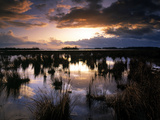 Sunset at Lough Beg in Northern Ireland Photographic Print by Chris Hill