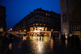 Streets of Paris at Night Reproduction photographique par Chris Bickford