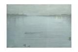 Nocturne: Blue and Silver - Cremorne Lights Giclée-tryk af James Abbott McNeill Whistler