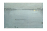 Nocturne: Blue and Silver - Cremorne Lights Lámina giclée por James Abbott McNeill Whistler