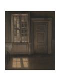 Interior, Sunlight on the Floor Giclée-tryk af Vilhelm Hammershoi