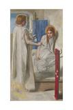 Ecce Ancilla Domini! (The Annunciation) Giclée-tryk af Dante Gabriel Rossetti