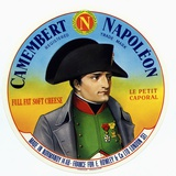 """Cheese Label """"Camembert Napoleon"""", """"Le Petit Caporal"""", Made in Normandy for Rowley and Co, London Foto"""