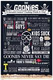 The Goonies - Typographic Foto
