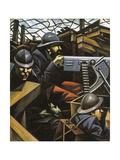 La Mitrailleuse Lámina giclée por Christopher Richard Wynne Nevinson