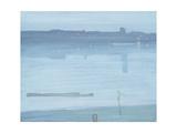 Nocturne: Blue and Silver - Chelsea Reproduction procédé giclée par James Abbott McNeill Whistler