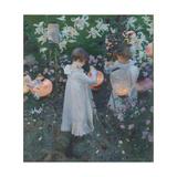 Oeillet, lys, rose Reproduction procédé giclée par John Singer Sargent