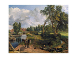 Flatford Mill ('Scene on a Navigable River') Giclee-trykk av John Constable