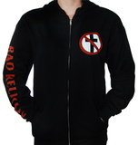 Zip Hoodie: Bad Religion - Crossbuster Felpa con cappuccio con chiusura a zip