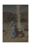 Der magische Kreis Giclée-Druck von John William Waterhouse
