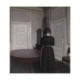Interior Giclée-tryk af Vilhelm Hammershoi