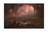 The Destruction of Pompei and Herculaneum Giclee-trykk av John Martin