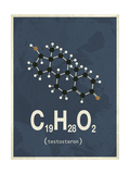 Molecule Testosterone Poster