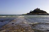 The Old Stone Causeway Leading to St. Michaels Mount Submerged by the Incoming Tide Photographic Print by Simon Montgomery