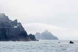 Fog Shrouds the Skellig Islands Photographic Print by Michael Nolan