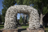 Elk Antler Arch, Town Square, Jackson Hole, Wyoming, United States of America, North America Photographic Print by Richard Maschmeyer