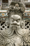 Detail of Statue at Wat Arun (Temple of the Dawn), Bangkok, Thailand, Southeast Asia, Asia Reproduction photographique par John Woodworth