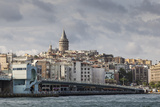Galata Bridge across the Golden Horn, Beyoglu District, Istanbul, Turkey, Eurasia Photographic Print by Eleanor Scriven