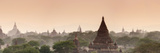 Panoramic of the Temples at Bagan (Pagan) at Sunset, Myanmar (Burma), Asia Photographic Print by Stephen Studd