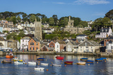 Early Morning Light on Small Boats at Anchor in the Harbour at Fowey, Cornwall, England Photographic Print by Michael Nolan