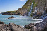 Waterfall, Tresaith Beach, Ceredigion, West Wales, United Kingdom, Europe Photographic Print by Billy Stock