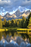 Water Reflection of the Teton Range Fotoprint van Richard Maschmeyer