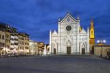 Santa Croce Church at Night, Piazza Santa Croce, Florencetuscany, Italy, Europe Reproduction photographique par Stuart Black