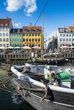 Fishing Boats in Nyhavn, 17th Century Waterfront, Copenhagen, Denmark, Scandinavia, Europe Lámina fotográfica por Michael Runkel