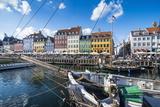 Fishing Boats in Nyhavn, 17th Century Waterfront, Copenhagen, Denmark, Scandinavia, Europe Stampa fotografica di Michael Runkel