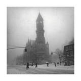 Greenwich Village, New York City Fotografisk tryk af Henri Silberman