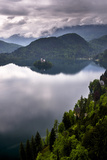 View of Lake Bled from Lake Bled Castle Photographic Print by Matthew Williams-Ellis